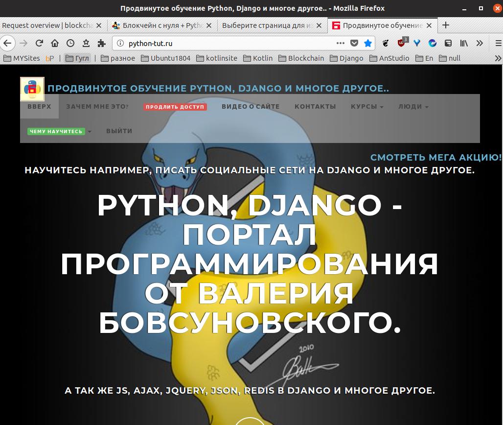 python + js